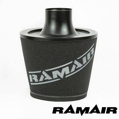 RAMAIR BLACK LARGE ALUMINIUM INDUCTION FOAM AIR FILTER UNIVERSAL 70mm OD INLET