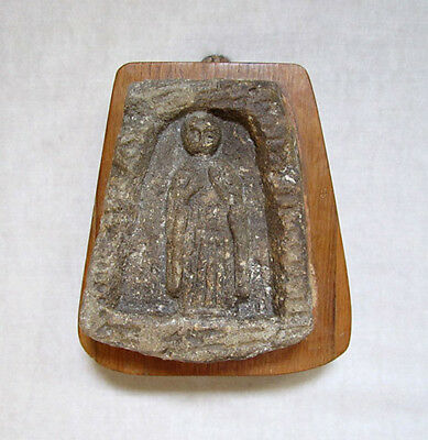 ANTIQUE EARLY CHRISTIAN STONE CARVING OF THE VIRGIN MARY, ca. 5th-7th Century AD
