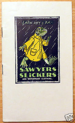 Vintage Sawyers Slickers Raincoat Catalog