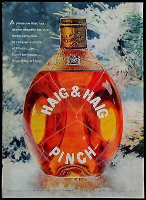Vintage 1958 Haig & Haig Pinch Blended Scots Whiskey Alcohol Magazine Ad