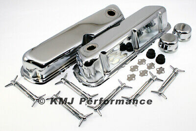 62-85 SBF Ford Chrome Valve Cover Dress Up Kit Small Block 260 289 302 351W 5.0