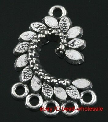 Free 8pcs tibet silver earring connector findings