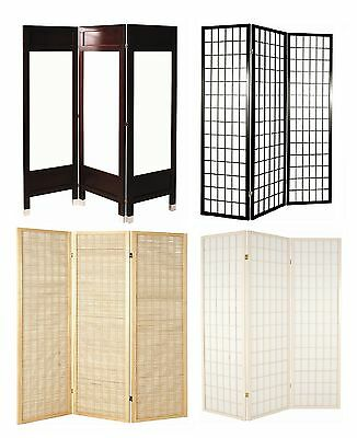 Panel Folding Room Divider Privacy Screen 3 Styles **Choice of Colour & Size **