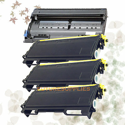 4P Brother 3 TN350 + 1 DR350 Compatible Toner & Drum HL-2040 HL-2070N DCP-7020