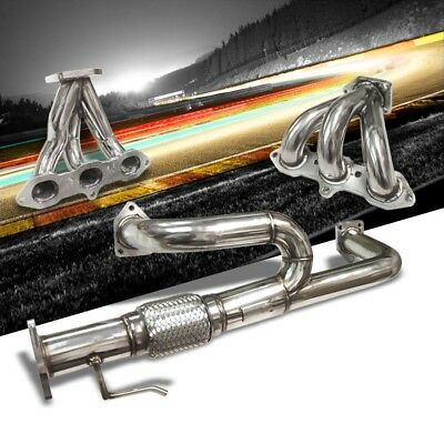 Manzo 6-2-1 Sport Manifold Exhaust Header For Acura 01-03 CL TL Type-S 3.2L V6