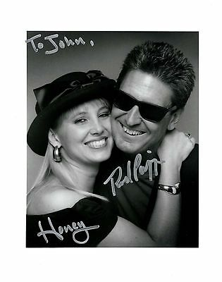 Rod Piazza & Honey Piazza signed 8x10 photo / autograph