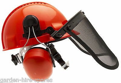 Chainsaw Forestry Brushcutter Safety Helmet Hard Hat With Steel Mesh Visor
