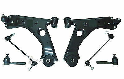 Fiat Grande Punto Front 2 Suspension Wishbone Arms + Links Outer Track Rod Ends