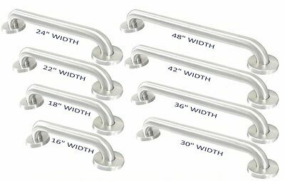 "Stainless Steel 1-1/2"" OD Safety Grab Bar - EXTRA STRENGTH!"