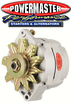 Powermaster 8002 GM 100A 12SI Racing Alternator w/1V Pulley 1 or 3 Wire Natural