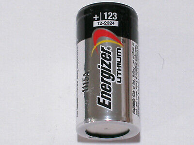 1 New Energizer Cr123 123 Dl123 Lithium Battery Cr123A Expire 12/2028