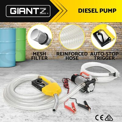 Giantz DC 12V Electric Bowser Transfer Pump Extractor Diesel Oil Fuel Auto Car