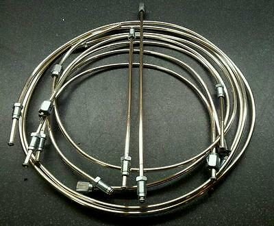 Mg 1100 / 1300, Full Polished Cupro-Nickel Brake Pipe Set