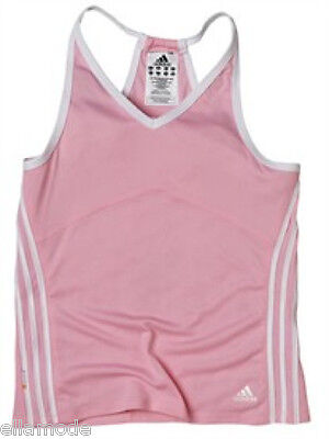 Adidas Girl's Pink & White Sports Vest Tank Top T Shirt Childs Age 2 Years BNWT