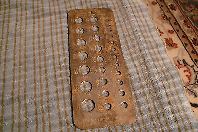 Vintage General Hardware Mfg. Co Drill & Wire Gauge Tool No. 14 New York USA