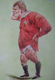 FRAN COTTON, ENGLAND RUGBY PRINT by JOHN IRELAND