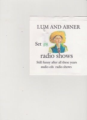 Lum & Abner 58  old time radio shows 10 audio cds set #8  OTR