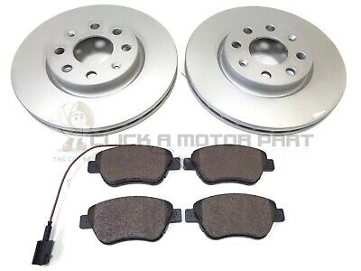 FIAT GRANDE PUNTO 199 1.3D 2x Brake Discs Vented Front 2005 on 284mm Set Pair