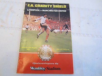 1983  CHARITY SHIELD LIVERPOOL v MANCHESTER UNITED