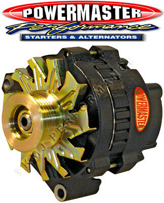 POWERMASTER 574611 GM CS130 Alternator 140 Amp w/ BAT Post 1-Wire VR Black