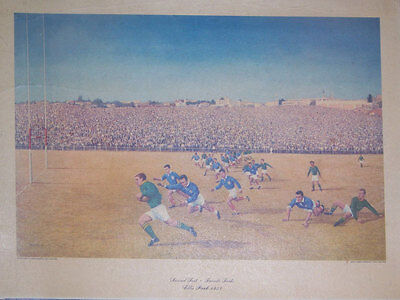 SOUTH AFRICA v FRANCE 2nd TEST 1958 RUGBY PRINT by CALTEX