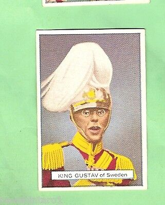 AUSTRALIAN LICORICE CARD - NOTABLE PERSON #31 of 70,  KING GUSTAV V, SWEDEN