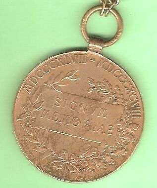 50th ANNIVERSARY MEDAL - FRANCIS JOSEPH 1 OF AUSTRIA, 1848 to 1898