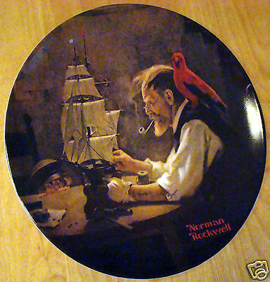 1980 Knowles Collectors Plate Norman Rockwell The Ship Builder