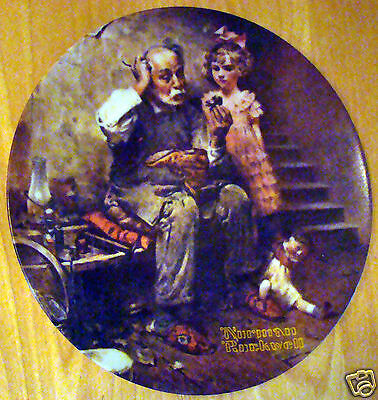 1978 Knowles Collectors Plate Norman Rockwell The Cobbler