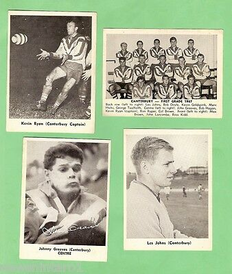 1967 Mirror Newspaper Rugby League Cards - Canterbury