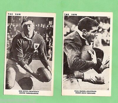 1967 Sun Newspaper Rugby League Cards - Newtown