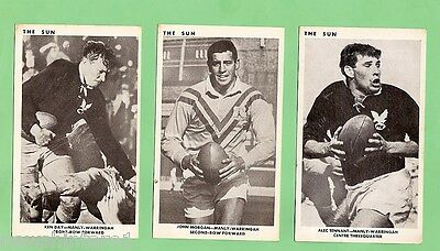 1967 Sun Newspaper Rugby League Cards - Manly Sea Eagles