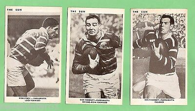 1967 Sun Newspaper Rugby League Cards - Parramatta