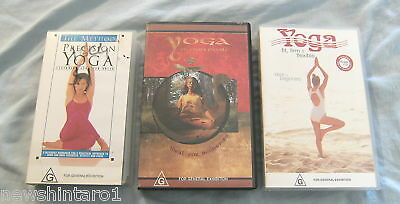 Three Yoga Vhs  Videos