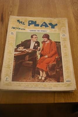 THE PLAY Pictorial. No 276. March 1st 1925. 'Grounds For Divorce' RIPPED COVER