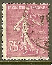 """France Timbre Stamp N°202 """"Type Semeuse Lignee, 75 C Lilas Rose"""" Oblitere Tb"""
