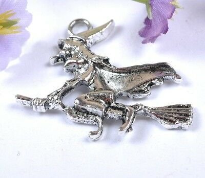 Wholesale lots 20pcs Tibetan Silver witch Charms 30X35MM SH2049
