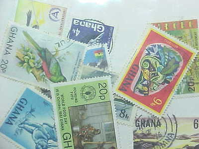 10 Different Ghana Stamp Collection - Lot