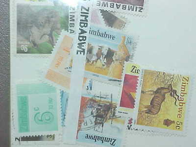 15 Different Zimbabwe (Only) Stamp Collection - Lot