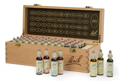 Nelson Bach complete Set 20ml Original Flower Remedies in hardwood box
