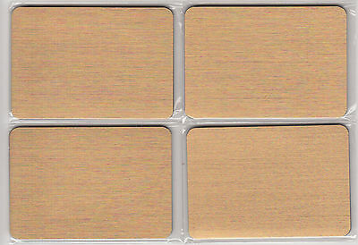 Lot of 4 Pocket Compact Magnetic Close Gold Address Books in Sleeves Generic NEW