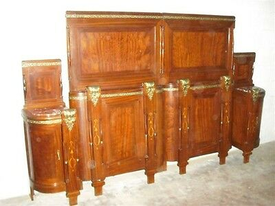 Nice Bronzed Italian Antique Beds And Night Stands -  Blowoutsale!!!!