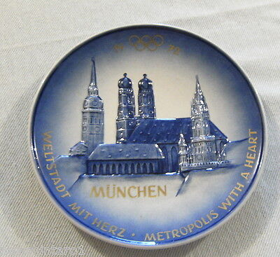 1972 Munich Olympic Games Collector Plate -