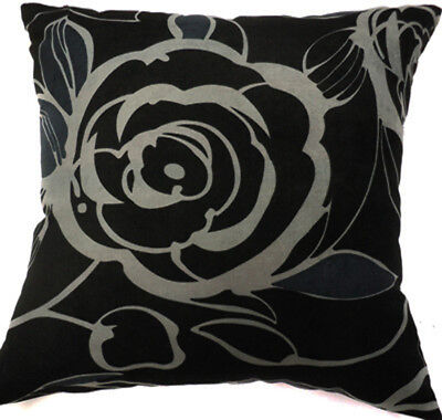 Ma07a Red Flower Velvet Style Cotton Blend Cushion Cover//Pillow Case*Custom Size