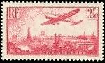 "France Timbre Stamp Avion N°11 ""Avion Survolant Paris 2F 50"" Neuf Xx Ttb"