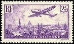 "France Timbre Stamp Avion N°10 ""Avion Survolant Paris 2F 25"" Neuf Xx Ttb"