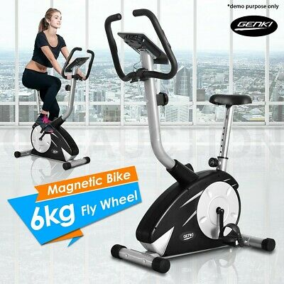 Indoor Upright Magnetic Bicycle Exercise Bike Trainer Fitness Home Gym Flywheel