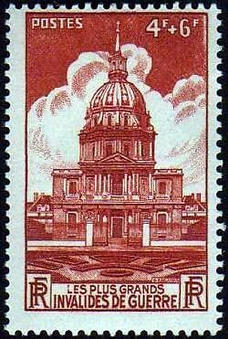 "France Timbre Stamp N°751 ""Chapelle Des Invalides, Paris"" Neuf Xx Ttb"