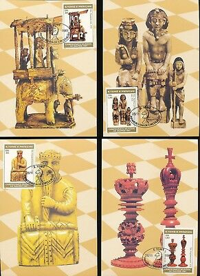 ST THOMAS Tome Prince 1981 CHESS x7 Used Maxi Cards [D910]