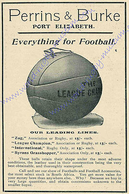 'Perrins & Burke' ball advertisement 1910 Modern Reproduction Rugby Poster, A2